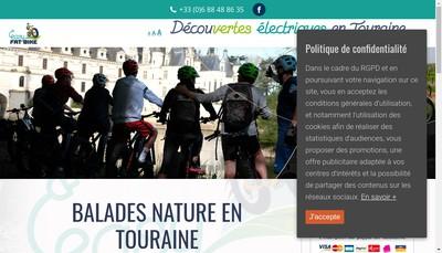 Site internet de Easy Fat Bike