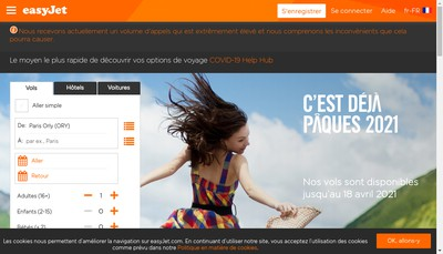 Site internet de Easyjet Airline Company Limited