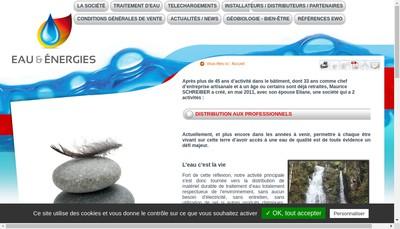 Site internet de Eau et Energies