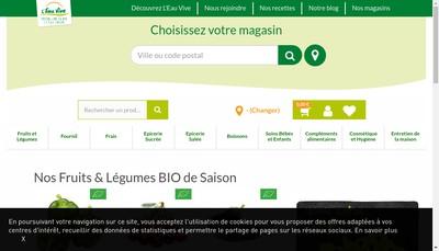 Site internet de L'Eau Vive