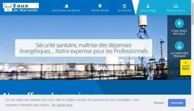 Site internet de Societe des Eaux de Marseille