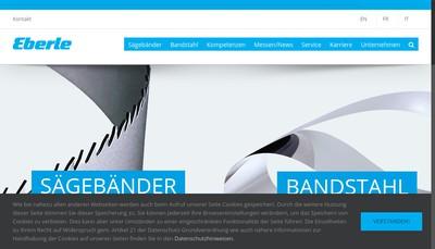 Site internet de Eberle France