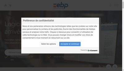 Site internet de Ebp