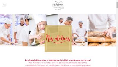 Site internet de Ecole Boulangerie et Patisserie de Paris