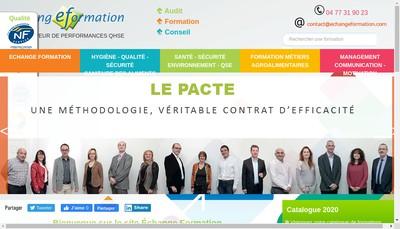 Site internet de Echange Formation