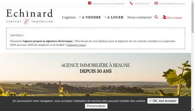 Site internet de Cabinet Patrick Echinard