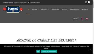 Site internet de Laiterie Echire