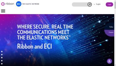 Site internet de Eci Telecom