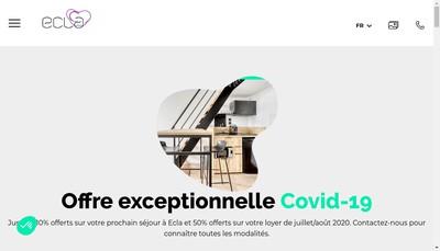 Site internet de Ecla Palaiseau Opco
