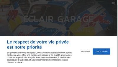 Site internet de Eclair Garage