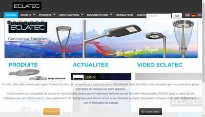Site internet de L'Eclairage Technique Eclatec SA