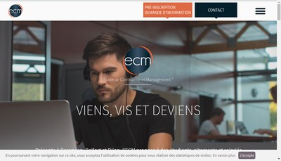 Site internet de Besancon Formation Stafe ECM Project