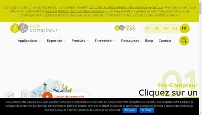 Site internet de Eco Compteur Eco Counter