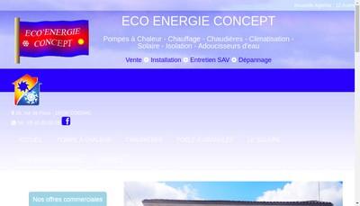 Site internet de SARL Eco Energie Concept