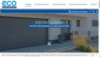 Site internet de Eco Menuiseries