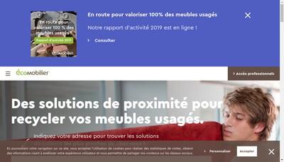 Site internet de Eco-Mobilier