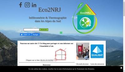 Site internet de Eco2Nrj