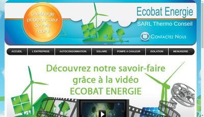 Site internet de Ecobat Energie