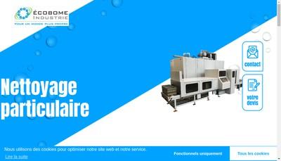Site internet de Ecobome Industrie