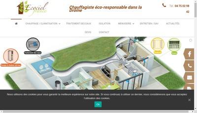 Site internet de SAS Ecociel France