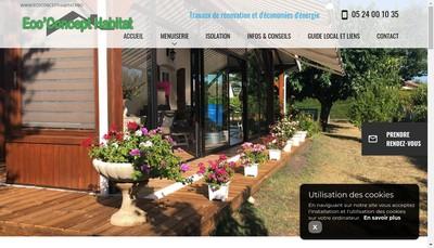 Site internet de Eco'Concept Habitat