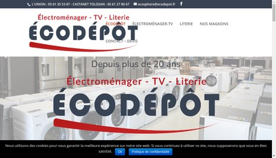 Site internet de Ecodepot