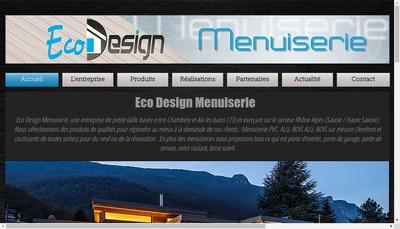 Site internet de Eco Design Menuiserie
