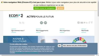 Site internet de Ecofi Investissements
