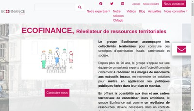 Site internet de Ecofinance Collectivites