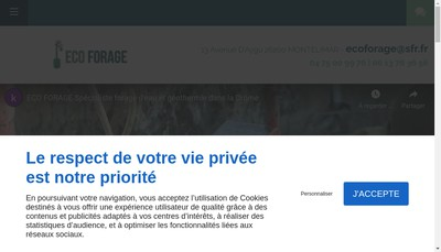 Site internet de Eco Forage