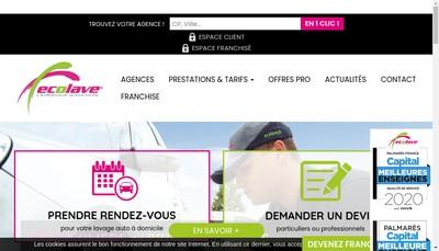 Site internet de Ecolave Developpement