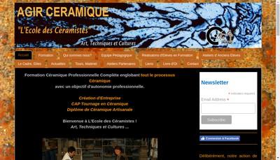 Site internet de Agir Ceramique