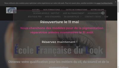 Site internet de France Dermo Ecole Francaise du Look