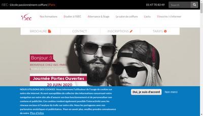 Site internet de Isec