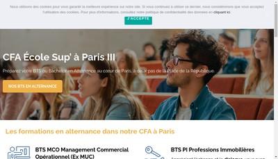 Site internet de Ecole Sup'Paris