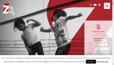 Site internet de Ecole de Danse Zig Zag