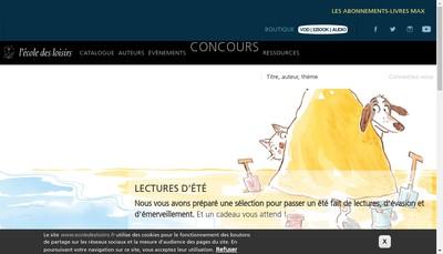 Site internet de Les Films de l'Ecole des Loisirs