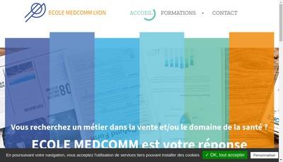 Site internet de Ecole Medcomm