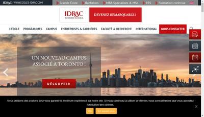 Site internet de Idrac Bs-Sup'de Com-Icl-Ie-Ileri-Esailt