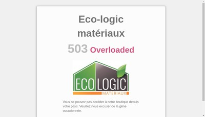 Site internet de Eco-Logic Materiaux
