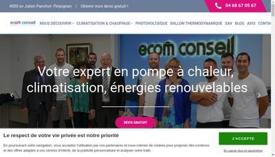 Site internet de Ecom Conseil