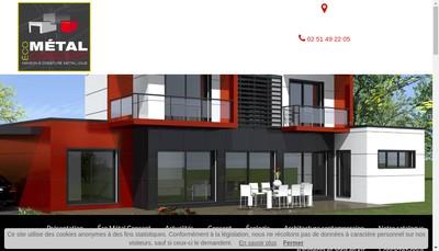 Site internet de Eco Metal Concept - Dsf Etudes