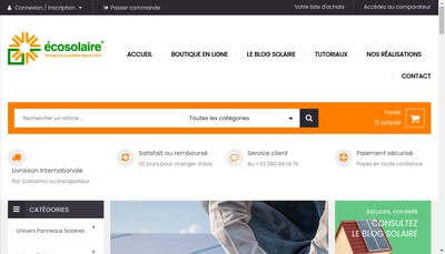 Site internet de Ecosolaire