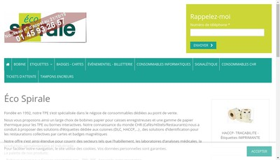 Site internet de Eco-Spirale
