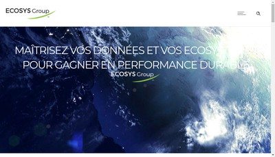 Site internet de Ecosys Group Holding