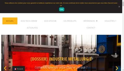 Site internet de Eco-Tech Ceram