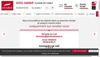 Site internet de Plaisir de Table - Ecotel