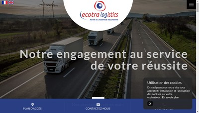 Site internet de Ecotra Logistics