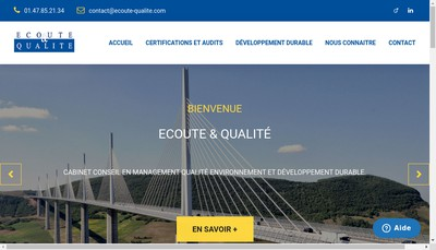 Site internet de Ecoute & Qualite