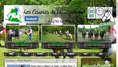 Site internet de Les Ecuries de la Dordogne